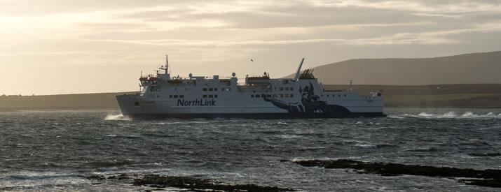 MV Hamnavoe travelling to Stromness in Orkney
