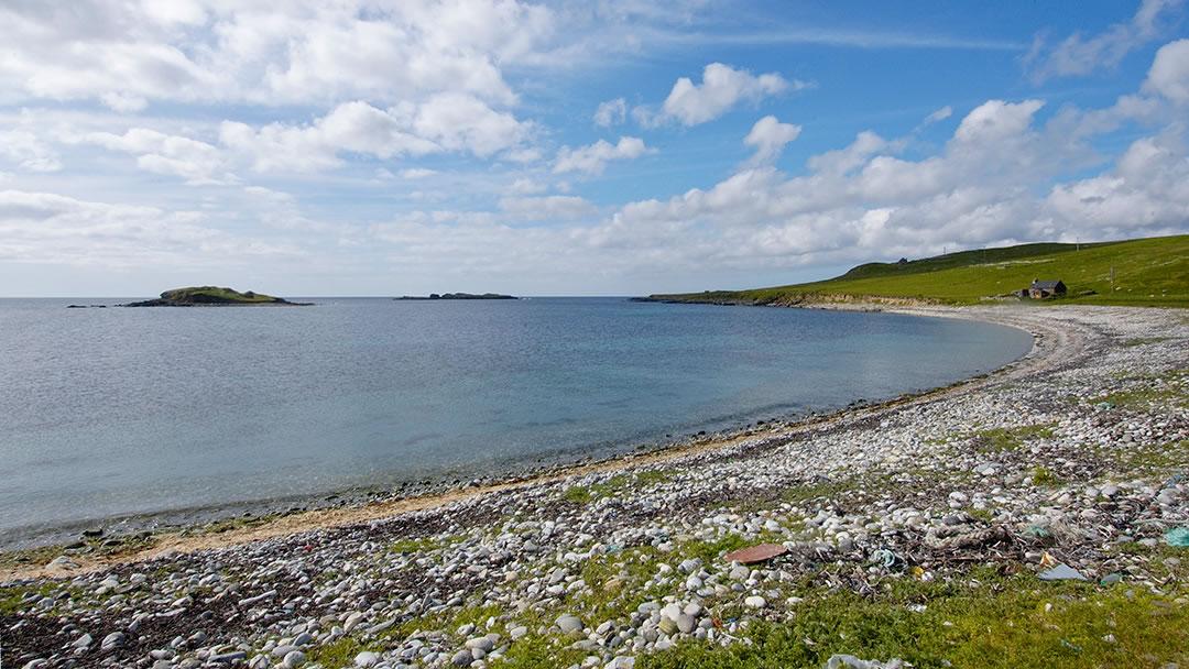 Westing beach in Shetland