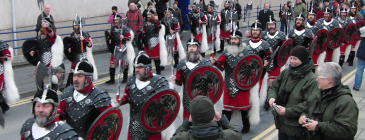 Up Helly Aa morning procession
