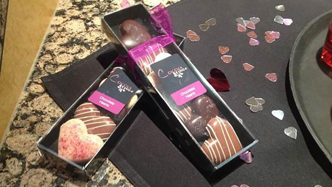 Valentines Day chocolates from Cocoa Ooze