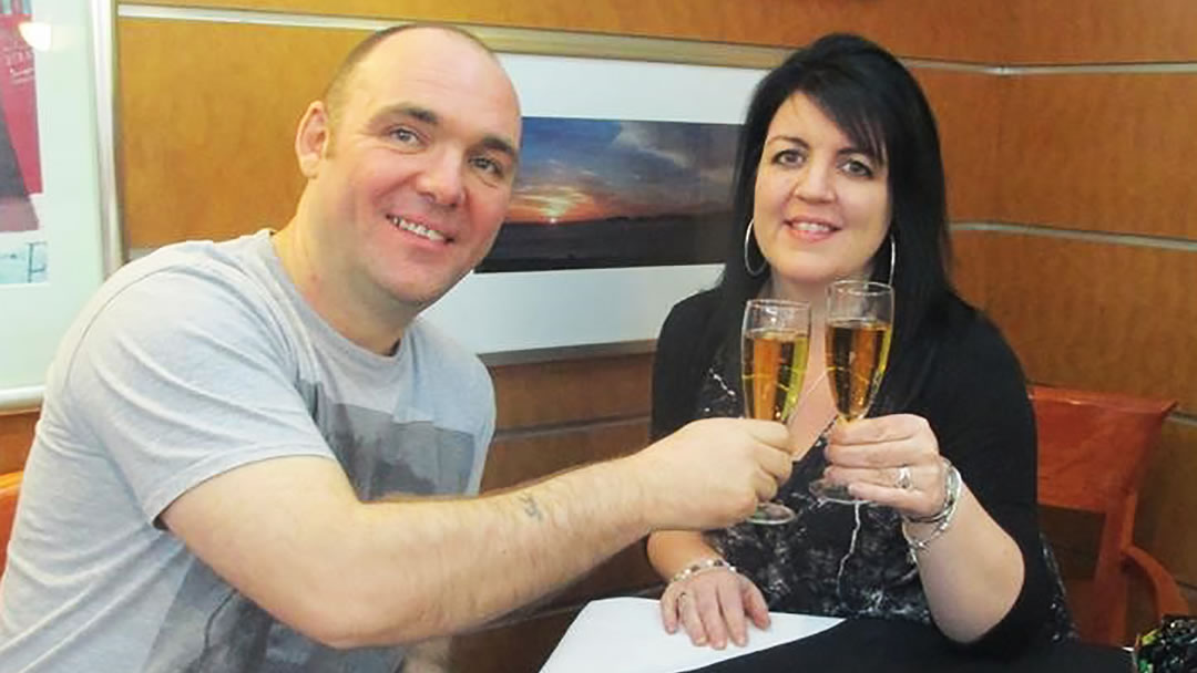 Tracey Sutherland and Steven Cassidy enjoy their Valentine's Day Meal in Magnus' Lounge