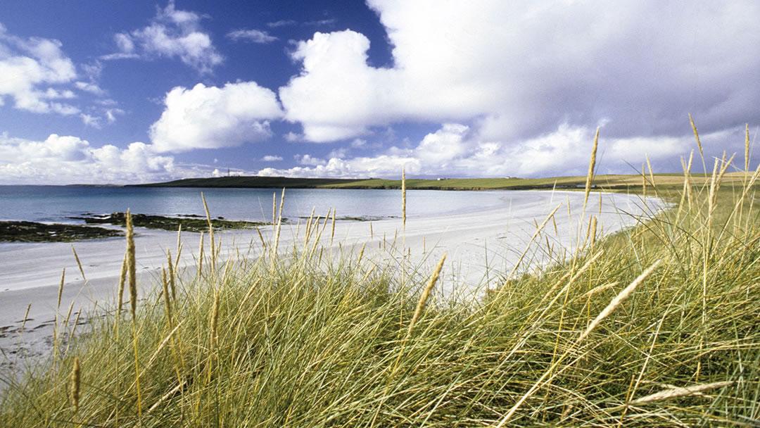 Backaskaill beach in Sanday, Orkney