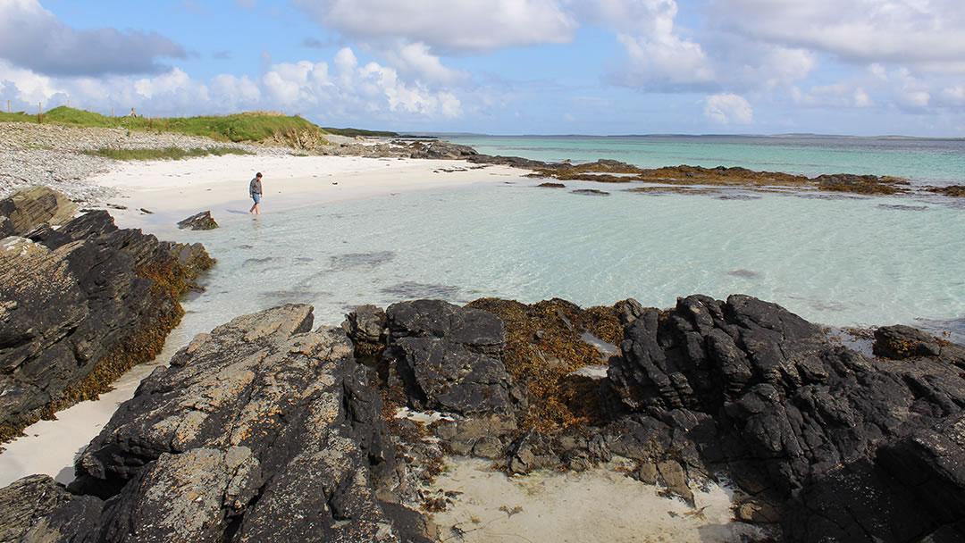 Egilsay beach, on the Orkney island of Egilsay