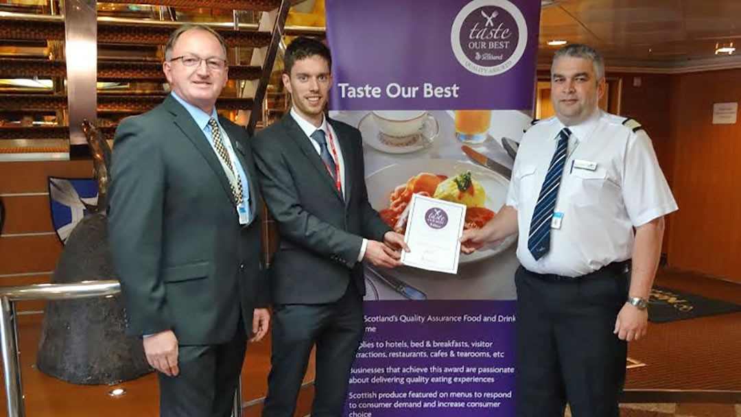 NorthLink receive the Taste Our Best Award on every ship