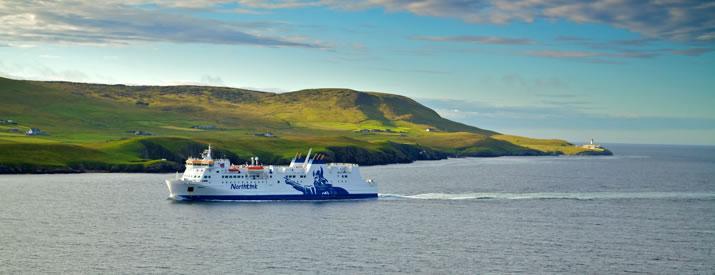 Hrossey arriving in Shetland