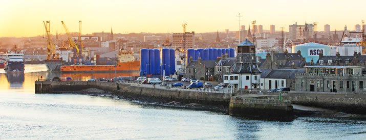 Aberdeen harbour, Scotland