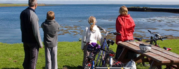 Bikes in Finstown, Orkney