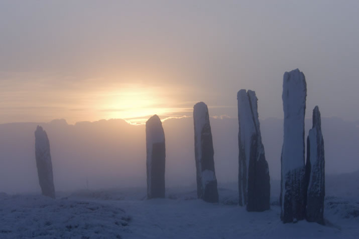 The Ring of Brodgar, Orkney in Winter
