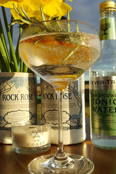 Rock Rose Gin and Tonic, Caithness
