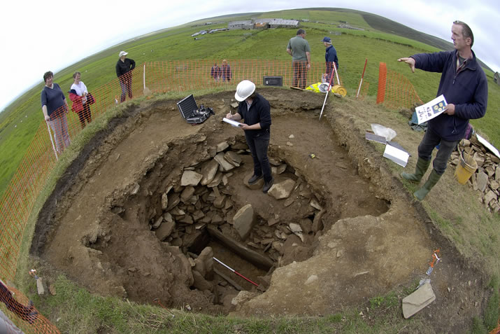 Digging at the Knowes of Trotty in Orkney