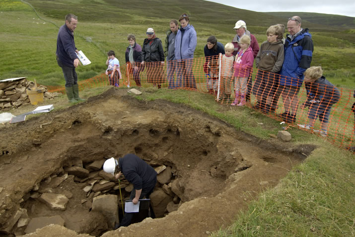 The archaeological dig at the Knowes of Trotty in Orkney