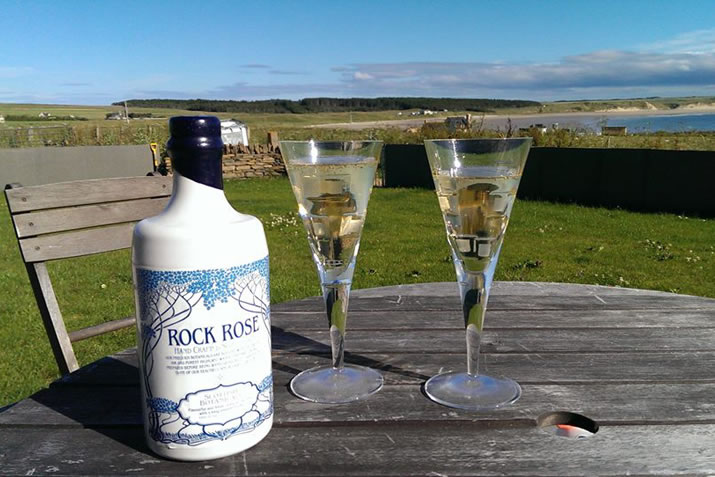 Rock Rose Gin and Dunnet Beach in Caithness