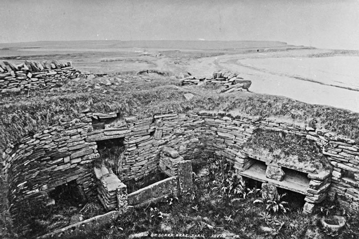 Skara Brae in Orkney before excavation