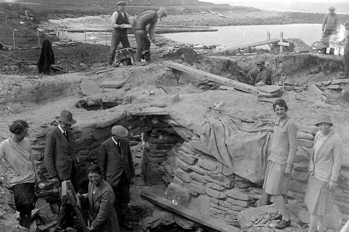 Skara Brae excavation