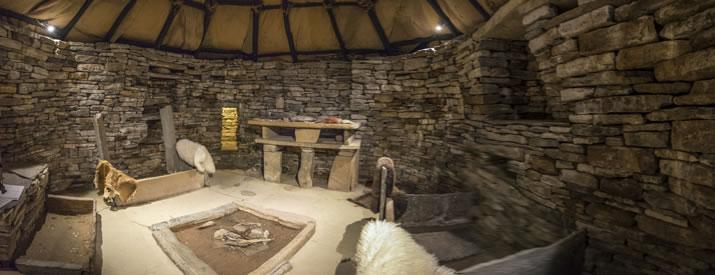 The Neolithic settlement of Skara Brae in Orkney