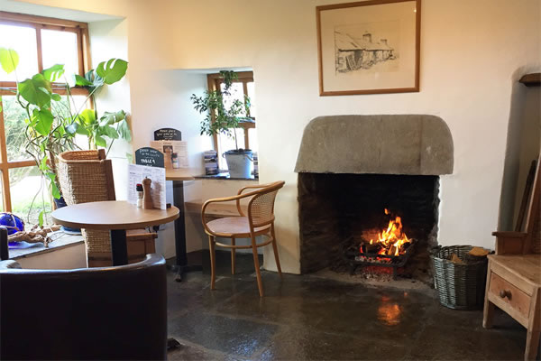 eviedale cafe with fire - Orkney Services