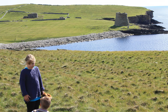 Mousa broch from afar, Shetland