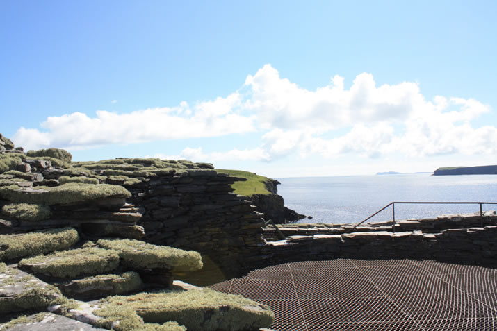 The top of Mousa broch in Shetland