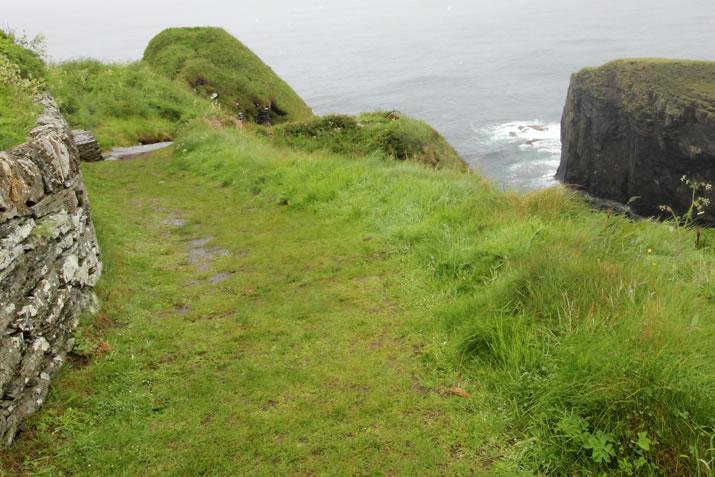 The approach to the Whaligoe Steps in Caithness
