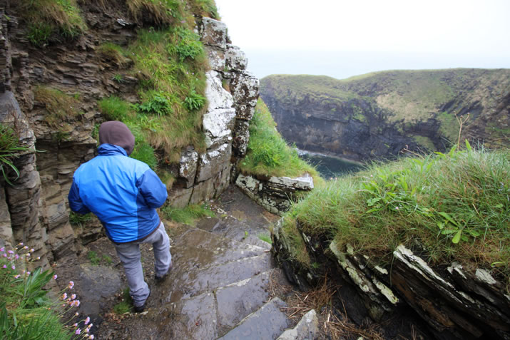 The Whaligoe Steps in Caithness