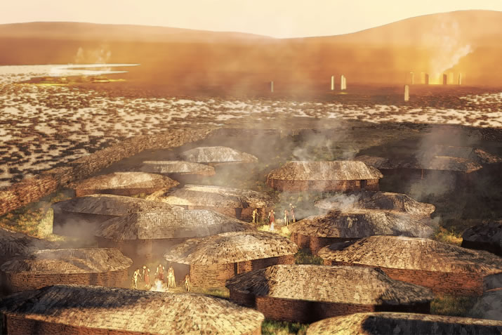 Ness of Brodgar reconstruction by Aaron Watson
