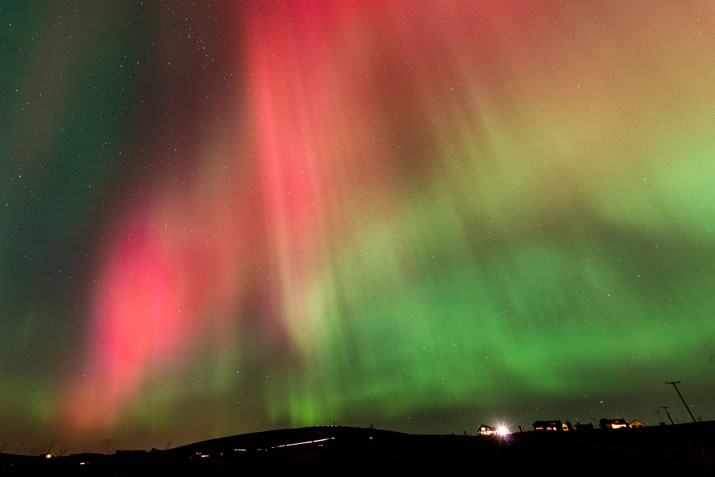 The Northern Lights or Aurora Borealis in Orkney