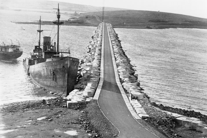 Building the Churchill Barriers in Orkney