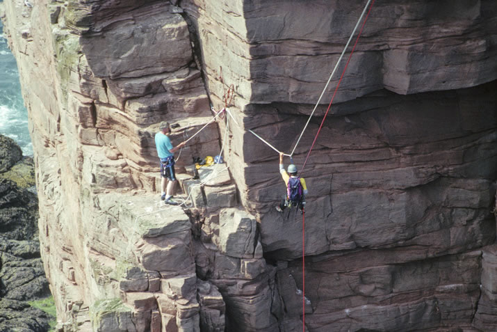 Climbing the Old Man of Hoy in Orkney