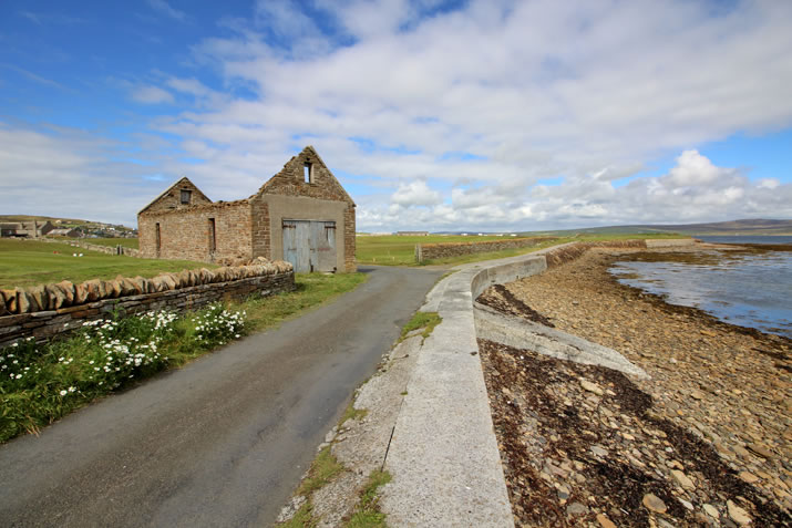 The first lifeboat shed in Stromness, Orkney