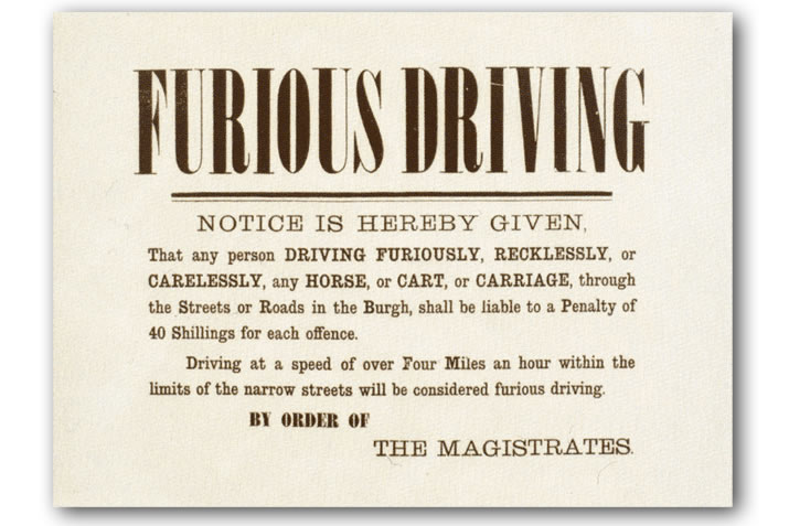 Furious Driving notice from Stromness