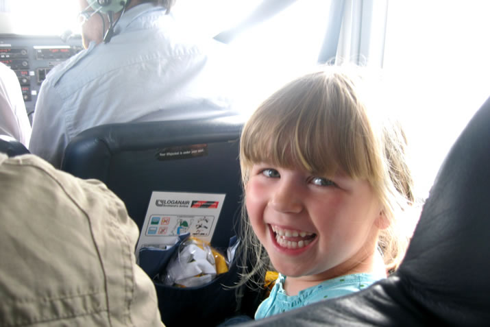 Flying in an Islander plane in Orkney