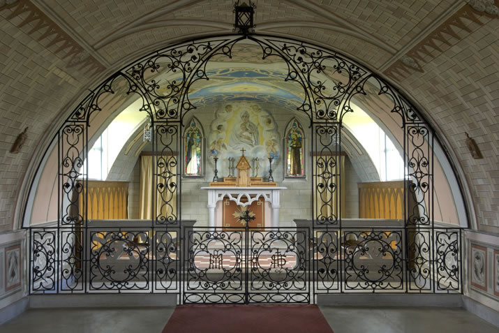 Interior of the Italian Chapel in Orkney
