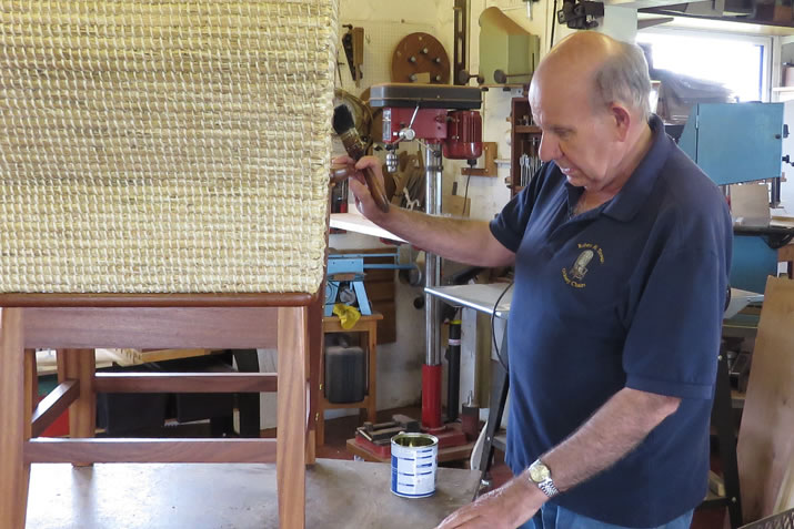 Robert H Towers making orkney chairs