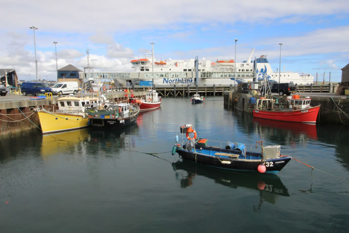 Boats in Stromness harbour, Orkney
