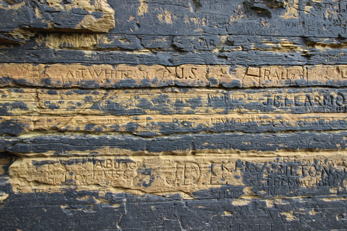 Detail at the naming stone, Billia Croo, Stromness, Orkney