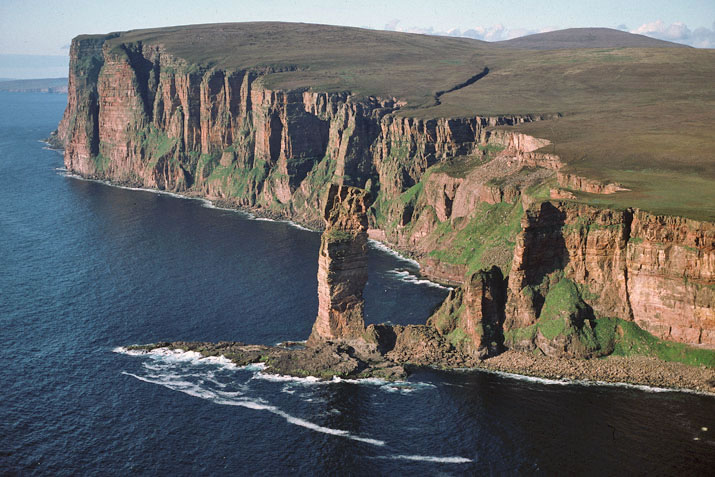 The Old Man of Hoy aerial view