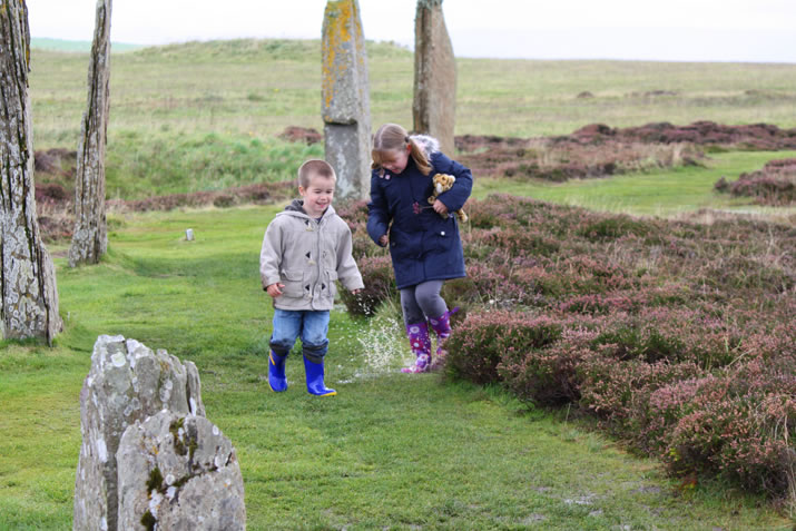 A rain soaaked walk around the Ring of Brodgar, Orkney