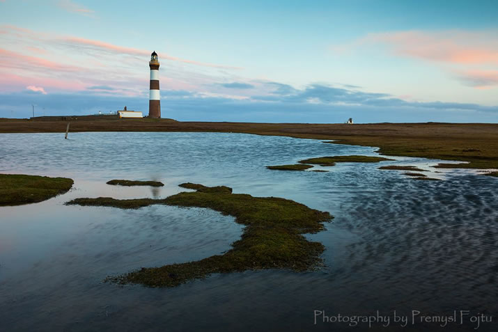 Dawn at North Ronaldsay lighthouse by Premysl Fojtu
