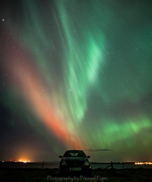Northern lights of February 2014 on Lambs Holm by Premysl Fojtu