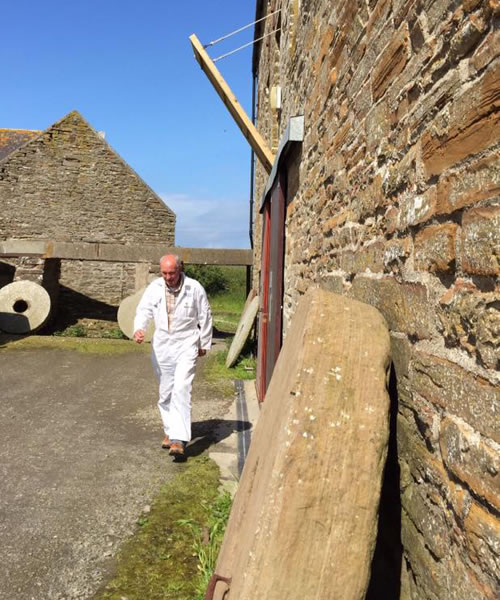 The tour guide at the Barony Mill, Orkney