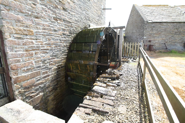 The waterwheel at the Barony Mill, Orkney