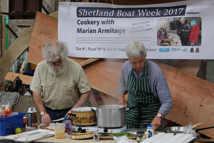 Marian Armitage cooking demonstration