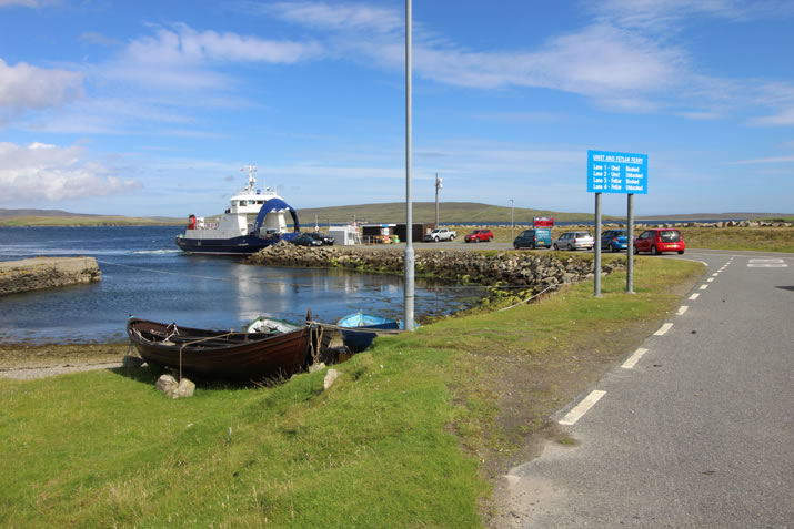 Ferry to Unst, Shetland