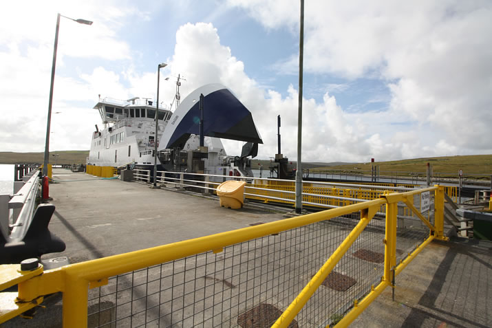 The ferry to Yell in Shetland