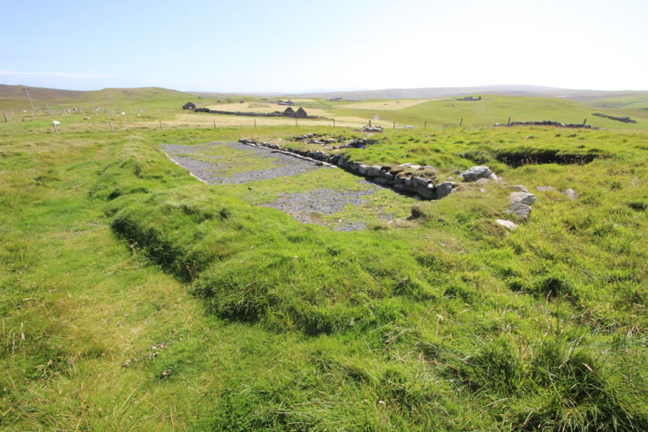 The Upper house at Underhoull, Unst, Shetland