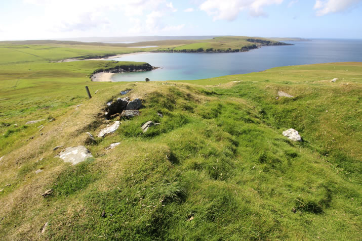 View from the broch at Underhoull, Unst Shetland