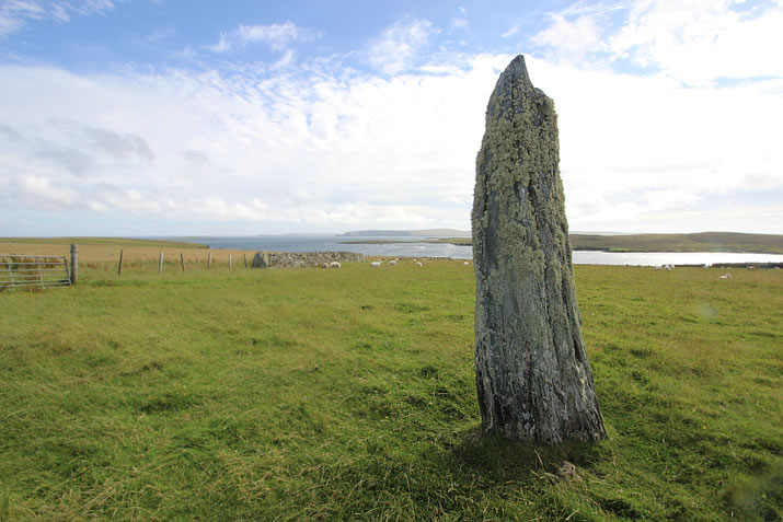 Uyea breck or Muness standing stone, Unst, Shetland
