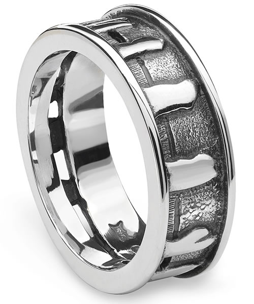 Aurora Jewellery - Ring of Brodgar silver ring