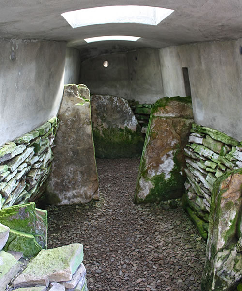 The interior of Blackhammer Tomb, Rousay, Orkney