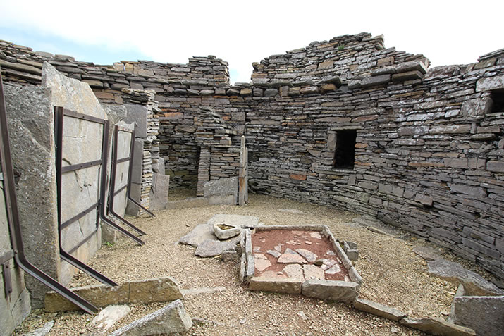 The interior of Midhowe Broch, Rousay, Orkney